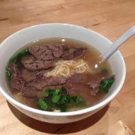 Beef noodle soup at Corner 17