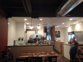 Open kitchen at The Good Pie