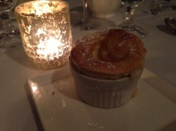 Rhubarb souffle at Stone Soup Cottage