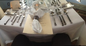 Table setting at Stone Soup Cottage
