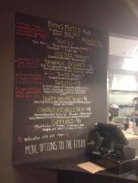 Food menu at UCBC