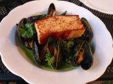 Green coconut curry mussels at Planter's House