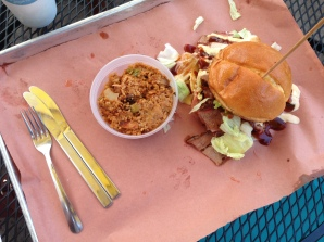 Big Muddy sandwich and jambalaya